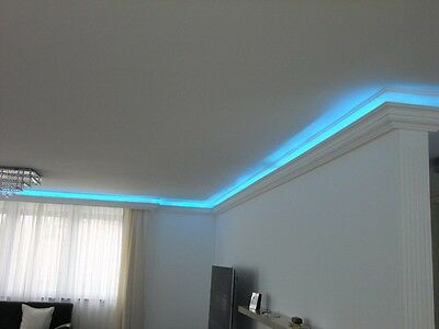 16 m LED Lichtprofil Indirekte Beleuchtung LED Decken Stuckleiste Profil BL 09