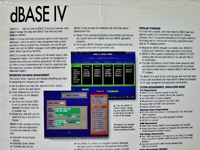BORLAND DBASE IV v1 5 manuals Ashton-Tate dBase 2 to 5 with DOS Compilers  DBMS