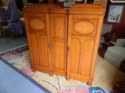 Superb Gentlemen's Satinwood Compactum/wardrobe C1920.the Best I Have Seen! 3