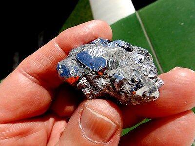 """Minerales """" Preciosos Cristales Cubicos De Skutterudita De Marruecos  -  10C16 """" 3"""