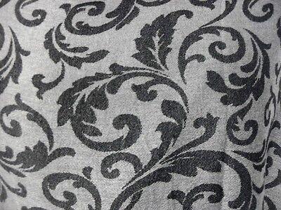 Pashmina Schal Tuch Stola Hijab Paisley 100/%Viskose Grau Schwarz gewebt 183x70cm