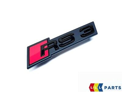 New Genuine Audi Rs3 17- Front Bumper Center Grill Black Rs3 Badge Emblem 2