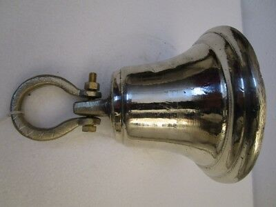 GERMAN SILVER made BELL - 2 Kilo - Great Sounding -Boat / Nautical / Maritime 6