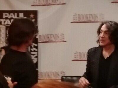 Paul Stanley Backstage Pass Signed Book Kiss + Bonus Event Flyer  Ace Gene Peter 10