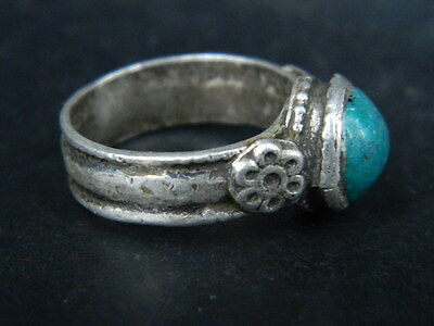 Antique Silver Ring With Stone Post Medieval 1800 AD    #STC478 2