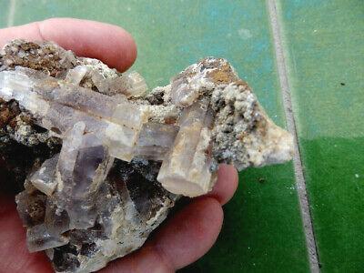 "Minerales "" Fabulosos Cristales Fluorescentes De Tarnowitzita Marruecos- 3B19 "" 4"