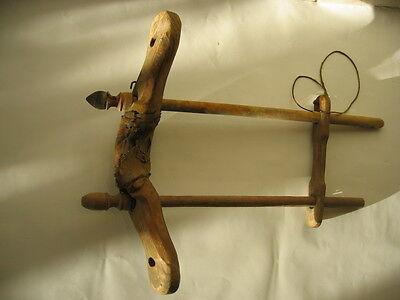 altes Ochsenkummet Geschirr Joch  Holz z.T. gedrechselt 4