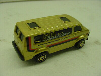 2019 MATCHBOX GOLD CHEVY VAN 50TH ANNIVERSARY SUPERFAST VHTF LOOSE MINT MB CHASE