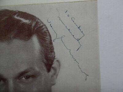 1944 VAUGHN MONROE Signed Inscribed Photo Bandleader Singer Radio Star Vintage 2