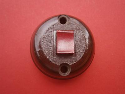 Art Deco Brown Bakelite Door Bell Press Doorbell Push NOS From 1940 Aprox. 2