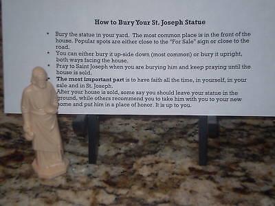 NEW St Joseph Statue Home Seller Selling Kit Saint House Figure & Instruction 3