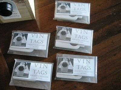 Wine Collection Organisers, Vin Tags - 5 packs of 50 wine bottle tags. 8