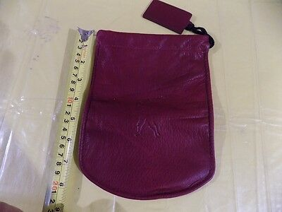 American Airlines Leather Drawstring Pouch 3