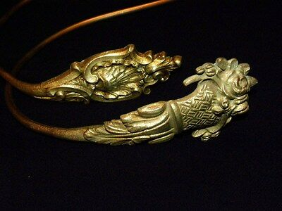 Antique Large Set of  French Tie backs Gilt Bronze Louis XVI Style 19Th. C 2