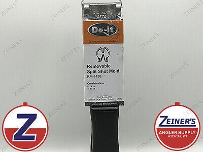 REMOVABLE SPLIT SHOT SINKER 1//4 OZ GOOD QUALITY FROM DO-IT MOLD 200 PCS
