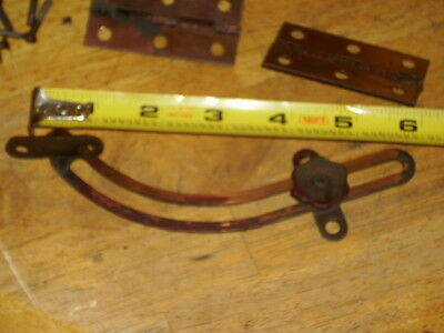 set of brass hindges and screws 6