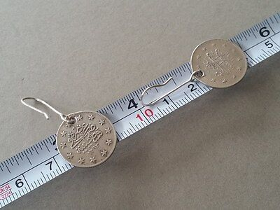 RARE Antique Silver Handmade 19th. Century from Year 1877-1293 Ottoman EARRINGS 8