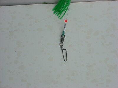 """/""""Sinking/"""" 14 Green 9/"""" squid Splash Spreader Bar w// 5 Birds"""