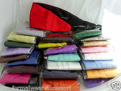 Any Mens Pre-tied Polyester Bow tie & Cummerbund Set>60 Colours>P&P2UK>1st Class 4