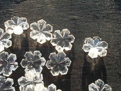 100 unusual 14mm glass snowflake chandelier drops/Christmas decoration (D84712) 2
