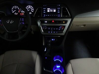 LED CUP HOLDER Lights -Blue LEDs - Fits 2015-2017 Hyundai Sonata Custom Mods