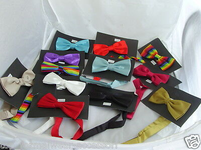 Any Mens Pre-tied Polyester Bow tie & Cummerbund Set>60 Colours>P&P2UK>1st Class 2