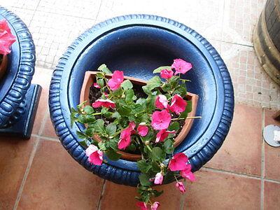 Jardineras De Hierro Fundido Antiguas Restauradas En Color Azul / Antique Fused 6