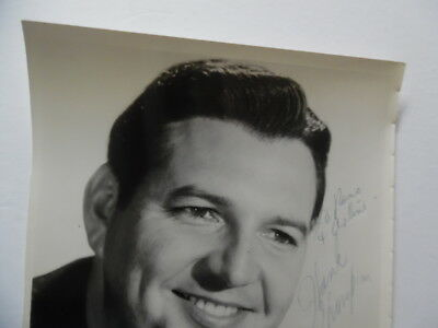 "c.1960s Hank Thompson Signed Inscribed Publicity Photo Capitol Records 8"" x 10"" 5"