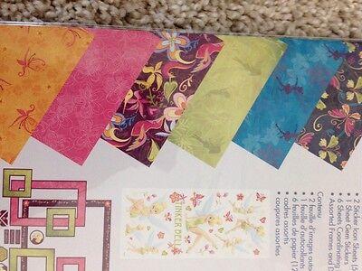 New Disney Tinkerbell 12x12 Scrapbook Theme Pack Paper Stickers