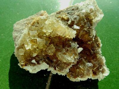 """Minerales """" Preciosos Cristales Fluorescentes De Fluorita Mina Moscona -10A17 """" 3"""