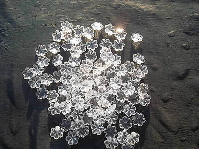 100 unusual 14mm glass snowflake chandelier drops/Christmas decoration (D84712) 9