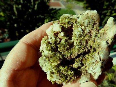 """Minerales"""" Extraordinarios Cristales Arracimados De Epidota De Marruecos-10D18 """" 6"""
