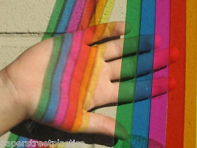 Transparent Vinyl Plastic Sheeting w/ Adhesive, Choose color n size,  New Colors 3