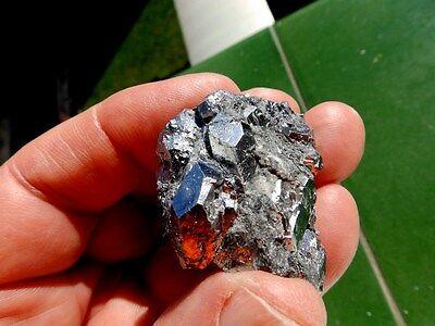 """Minerales """" Preciosos Cristales Cubicos De Skutterudita De Marruecos  -  10C16 """" 4"""