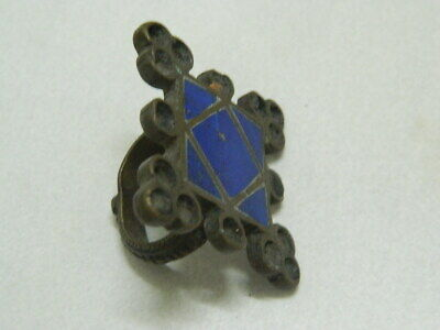 Vintage Brass Ring With Lapis Lazuli Stone more then 50 Years Old #BE1198 3