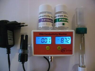 PH Messgerät Leitwert ph meter ph EC Leitwertmesser Aquarium  EC Wert NEU 2063 2