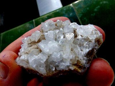 "Minerales "" Fabulosos Cristales Biterminados De Celestina  Pte.tablas  - 10I18 "" 3"