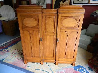 Superb Gentlemen's Satinwood Compactum/wardrobe C1910-20.the Best ! 4