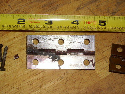 set of brass hindges and screws