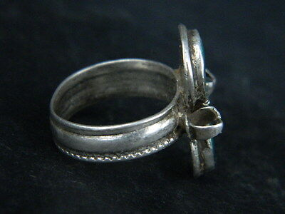 Antique Silver Ring With Stones 1900 AD  #STC176 4 • CAD $31.76