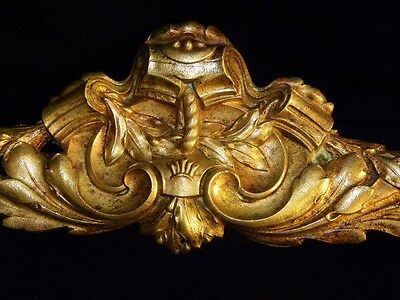 Superb Antique French Large Bronze Pediment Scroll 19 Th.c Napoleon III Louis XV