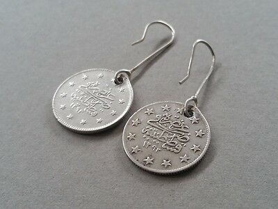RARE Antique Silver Handmade 19th. Century from Year 1877-1293 Ottoman EARRINGS 5