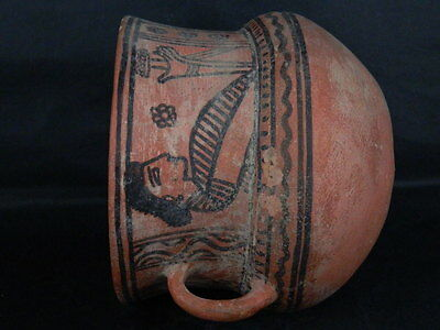 Ancient Large Size Teracotta Painted Jug Roman 100BC #PT675 7