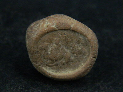 Ancient Teracotta Seal Bactrian C.300 BC #TR879 2