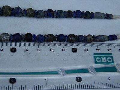 Ancient Lapis Lazuli Beads Strand Roman 200 BC   #BE2418 10