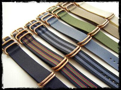 Cinturini ZULU Bronze misure: 20-22-24. Nylon Zulu Straps. ENTRATE!!! 3