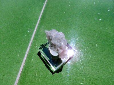 "Minerales "" Fantasticos Cristales Barita Azul Mina Moscona Asturias -  8B17 "" 4"