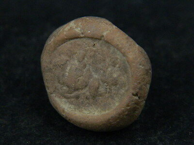 Ancient Teracotta Seal Bactrian C.300 BC #TR879 3