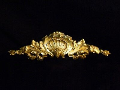 Superb Antique French Large Bronze Pediment Scroll 19 Th.c Napoleon III 4 • CAD $308.70