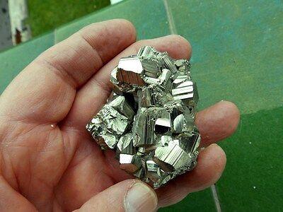 "Minerales ""  Excepcional Pirita Maclada Mina San Genaro (El Peru)  -  11C16 "" 3"